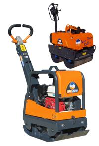Compactadores y apisonadoras mecánicas para trabajos de construcción.