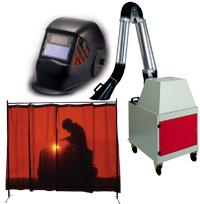 Elementos de protección para soldadores.