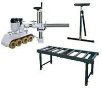 Soportes y alimentadores para herramientas de carpinteria