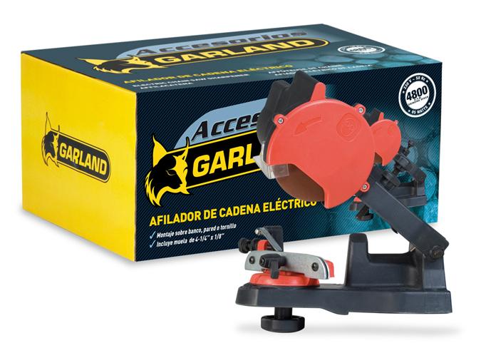 Afilador electrico de cadenas 7199002002 garland para cualquier cadena de motosierra.