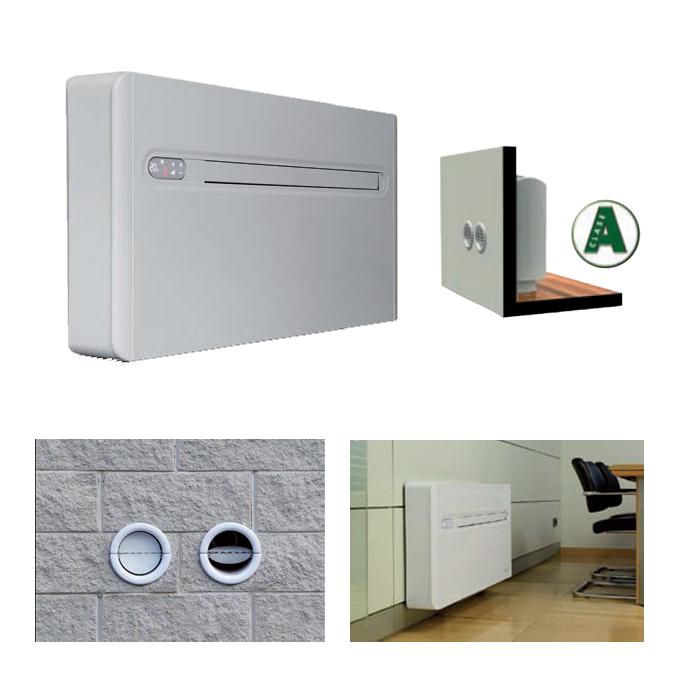 Aire acondicionado de pared sin unidad exterior for Aire acondicionado aparato exterior