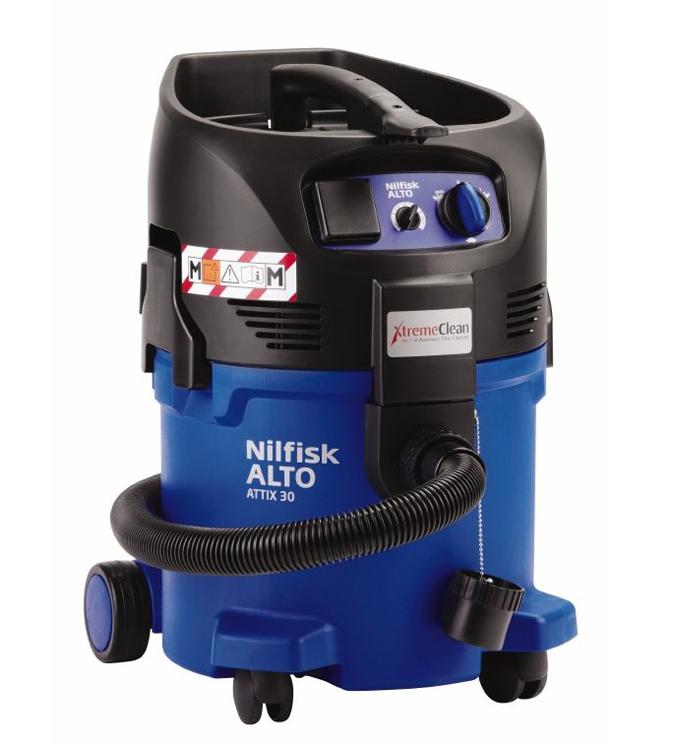 Aspirador nilfisk profesional de seguridad agua y polvo attix 30-2m