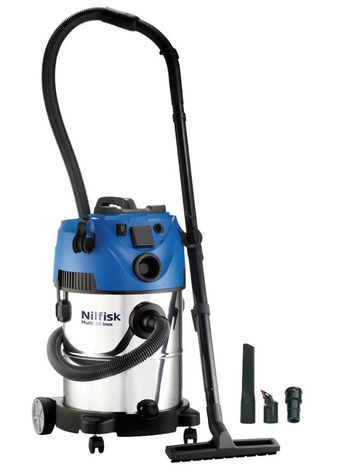 Aspirador domestico de agua y polvo nilfisk multi 30 t vsc inox