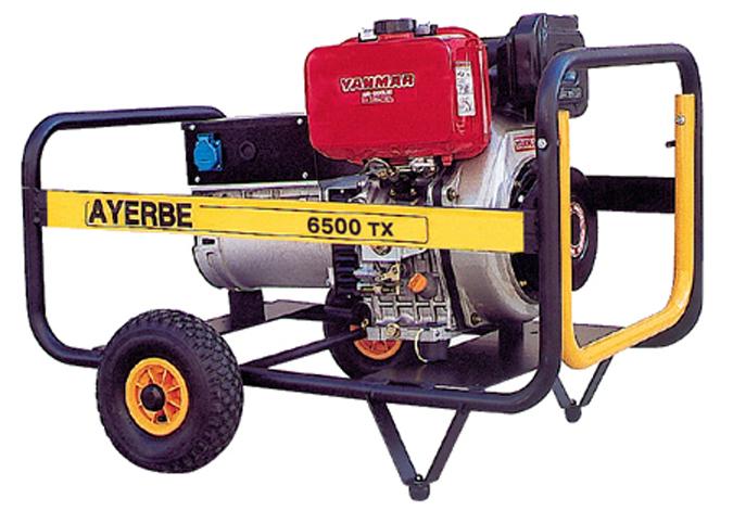 Generador ayerbe 6500 tx trif sicon con con motor diesel - Generador de electricidad ...