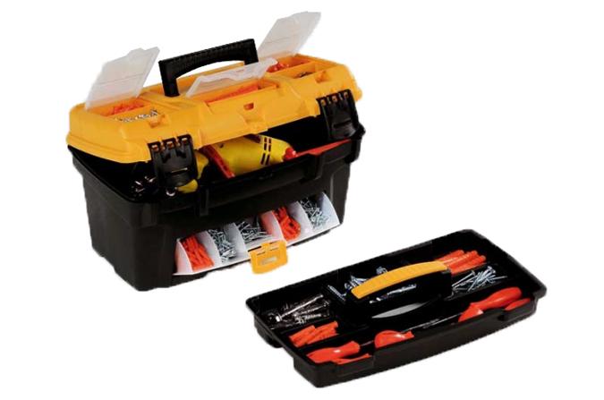 Caja de herramientas para bricolage ref pf17 plano - Cajas para guardar herramientas ...