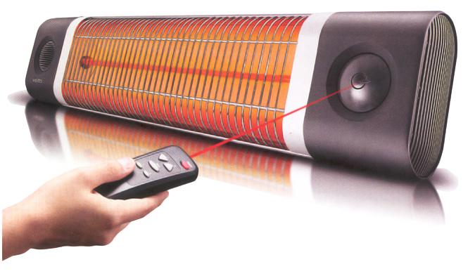 Calefactores veito de interio y exterior veich1800rw for Calentadores para jardin