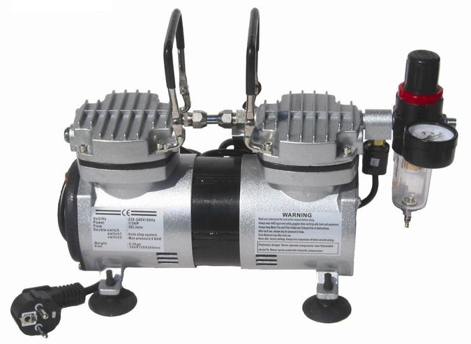 Compresor monofasico mini 1 3 as19d de kripxe compresor for Compresor de aire silencioso