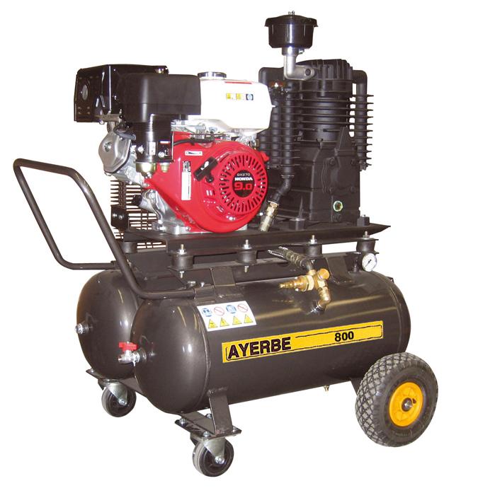 compresor de aire de gasolina. compresor de aire ay 800 h 581030 ayerbe gasolina o