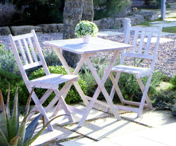 Conjunto de sillas y mesa para jardin o terraza tattoo for Conjunto jardin madera