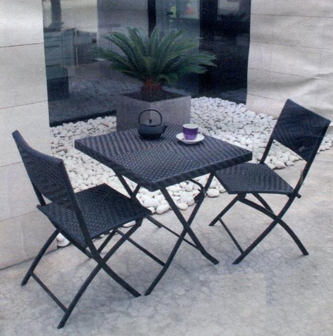 Conjunto para jard n mesa 2 sillas mobiliario for Mesas de terraza plegables