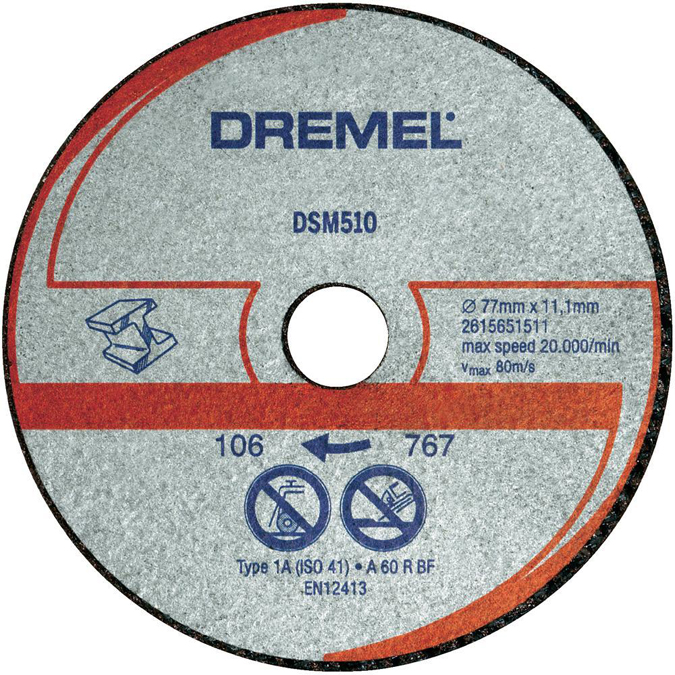 Disco de corte dremel dsm510 accesorios - Disco corte aluminio ...