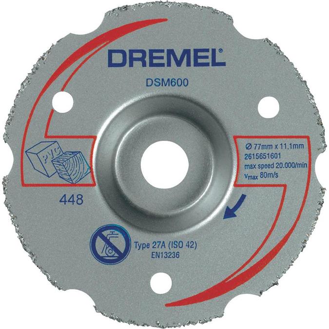 Discos de corte para multiherramientas dremel dsm600 ref: 2.615.S60.0JA. especial para madera.