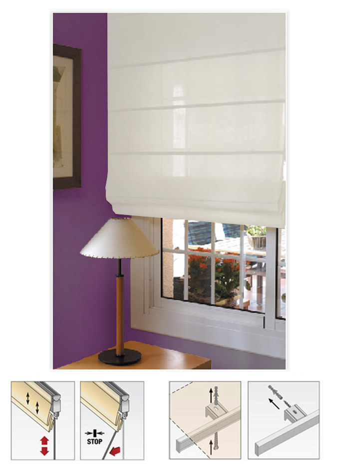 Estor ventana city plegable blanco roto estores - Colocacion de estores ...