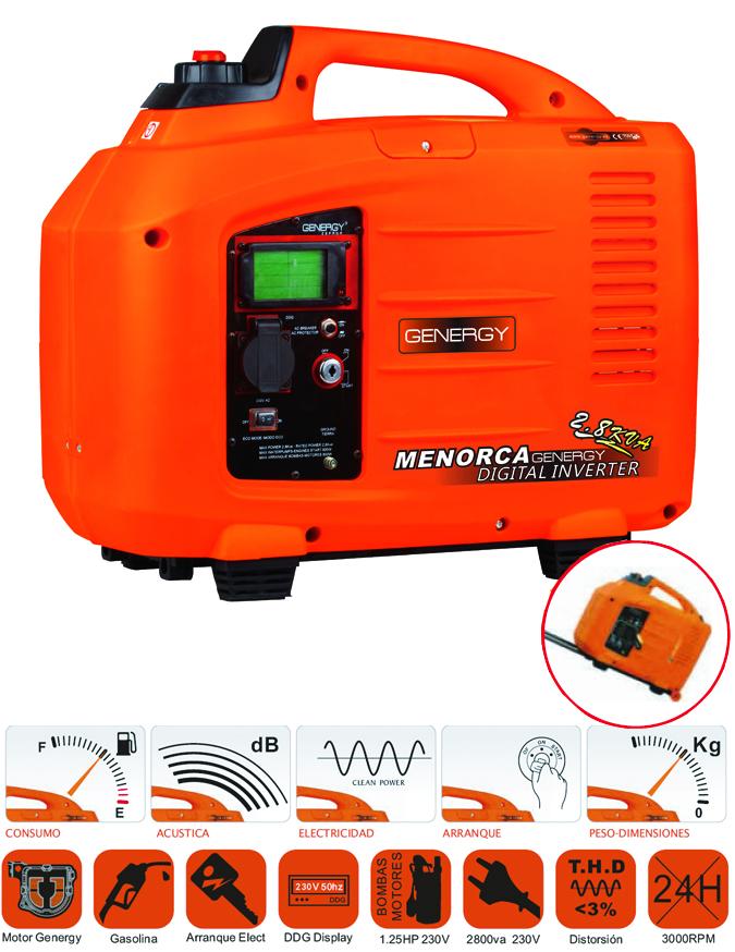 Generador silencioso y ligero modelo menorca generadores - Generador de luz ...