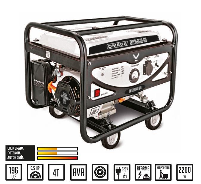 Generador gasolina interlagos yh2500 omega generadores - Generador de electricidad ...