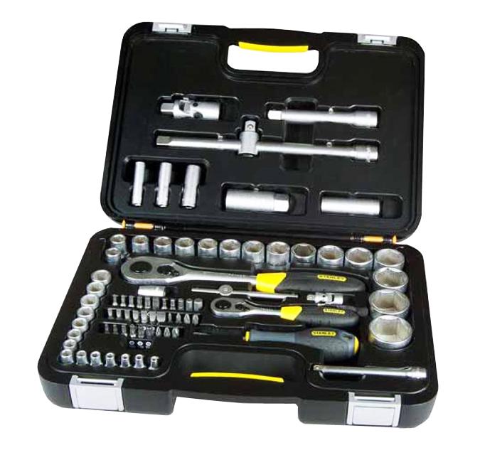 Estuche herramientas con puntas y llaves stanley 1 94 669 for Juego de regadera y llaves