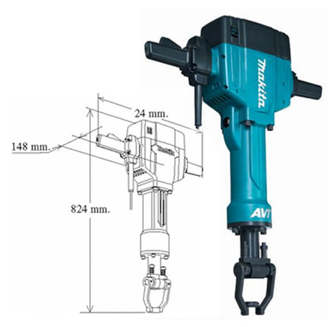 Martillo picador demoledor makita hm1810 herramientas de - Martillo cincelador electrico ...