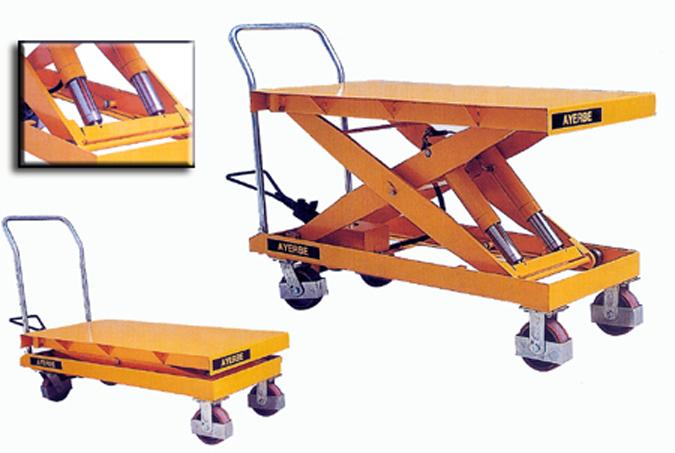 mesa hidraulica transportes de paneles de madera