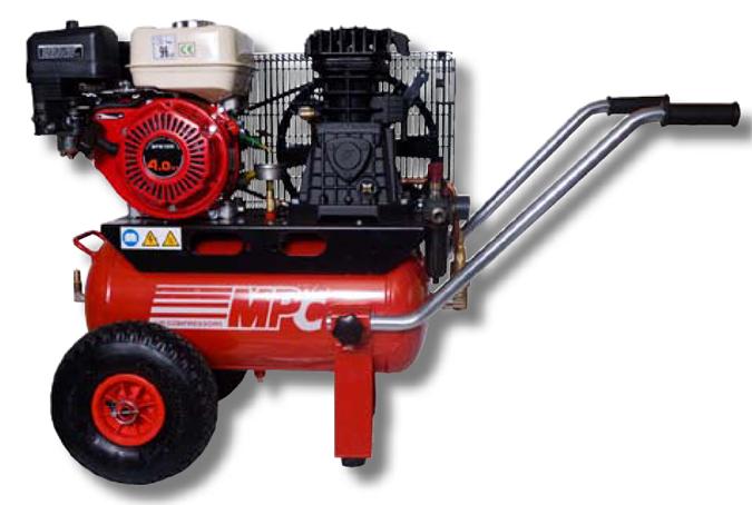 compresor de aire de gasolina. herramienta de aire a presion con motor gasolina mpc compresor