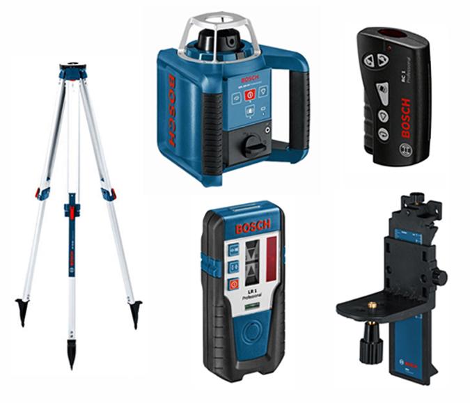 Laser giratorio bosch grl 300 hv rc1 wm4 lr1 bt170 - Nivel laser bosch ...