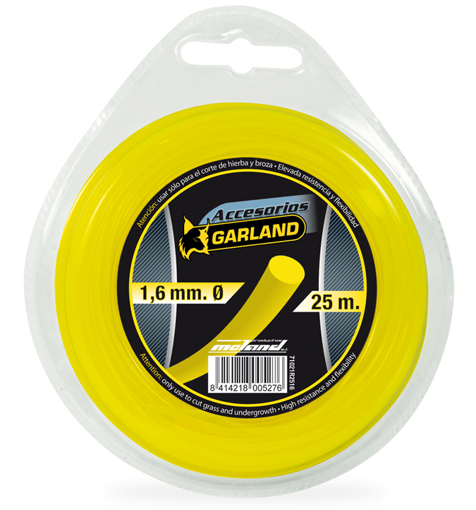 Dispensador de nylon para desbrozador garland 71021r2516 for 10564 corte jardin del mar