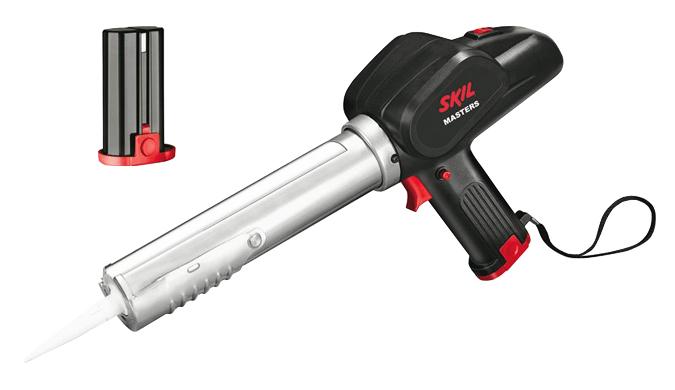 Pistola sellante a bateria 2055ma skil f.015.205.5ma para la aplicacion de silicona y masilla.
