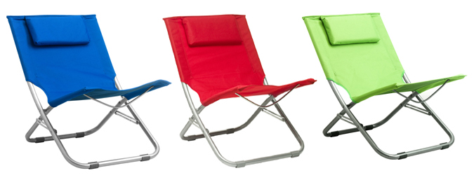 Silla de playa plegable en colores mobiliario de playa - Silla de playa plegable ...