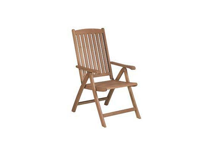 Sill n multiposici n de madera modelo georgia mobiliario for Sillon reclinable exterior