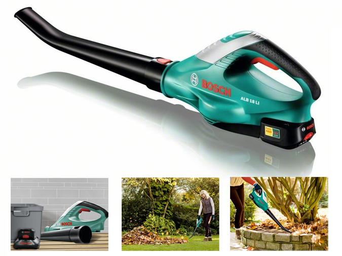 Alb 18 li de bosch soplador de hojas a bateria 18v for Aspiradora de hojas de jardin