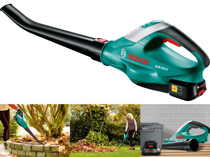 Alb 18 li de bosch soplador de hojas a bateria 18v for Aspiradora de hojas para jardin