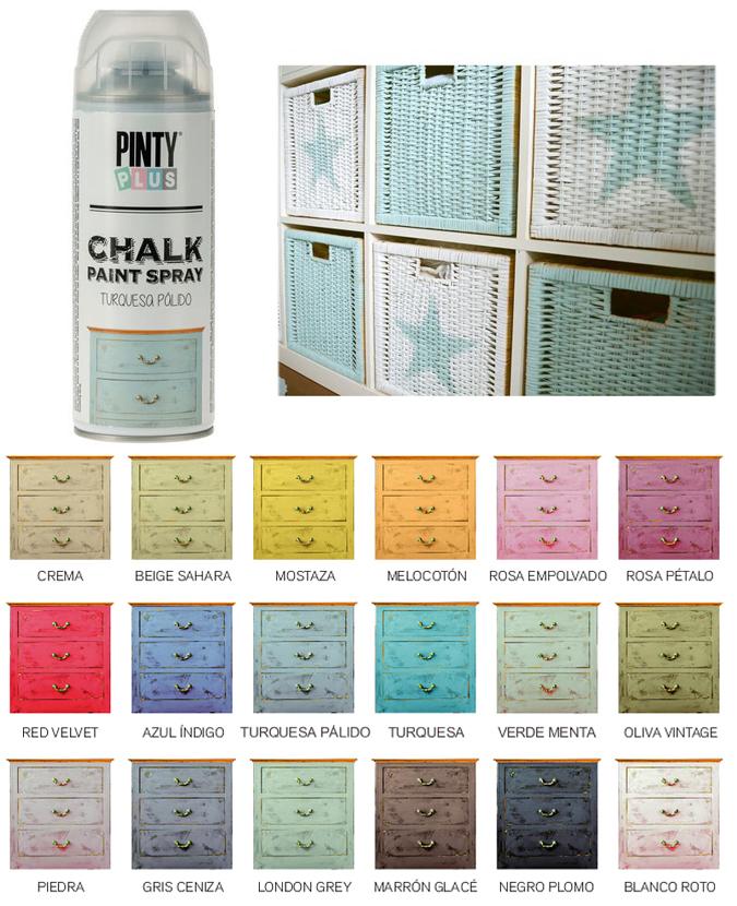 pintyplus spray pintura efecto tiza chalk restaurar muebles vintage