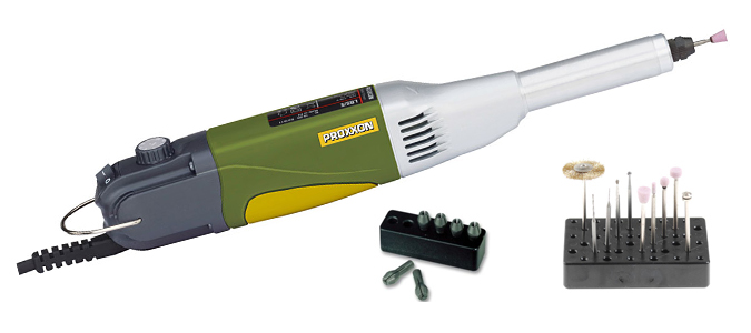 Rectificador taladro de proxxon con cuello largo lb/e