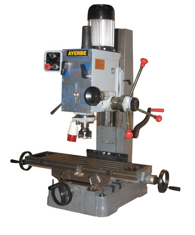 Taladro de columna AY 38 MD Ref. 580670 Ayerbe para taladrar piezas de madera.
