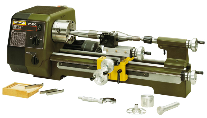Maquinas de precision proxxon pd 400 tornos herramientas for Tornio legno hobby