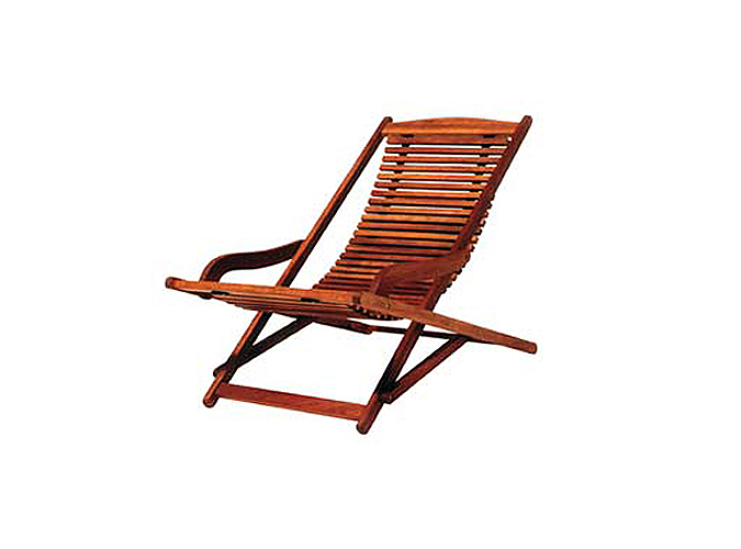 silla de exterior fabricada en madera - Tumbonas Madera