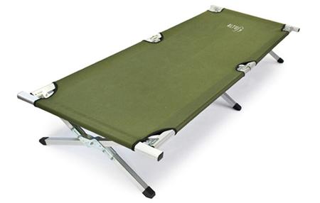 cama aluminio ligera, un perfecto complemento para para nuestras acampadas