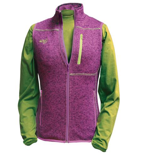chaleco deportivo de punto Altus Neon para mujer color morado