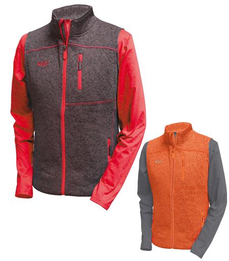 chaleco deportivo de punto Altus Neon para hombre en color marron o naranja