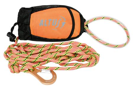 bolsa de malla y poliester para guardar cuerda de rescate