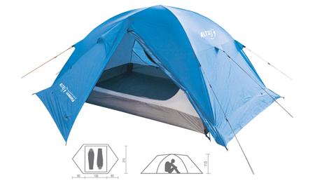 Tienda campaña Altus Jannu con muy buenas prestaciones para salidas a media montaña y campamentos.