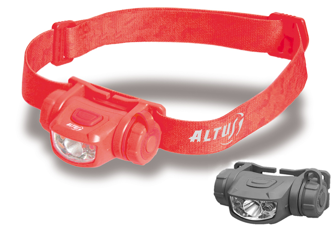 Linterna frontal led de altus escorpio