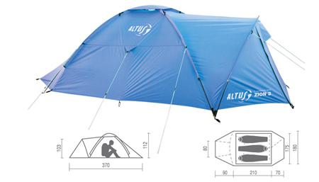 Tienda de campaña para cualquier salida a media montaña o campamento, muy completa y con buenas características técnicas