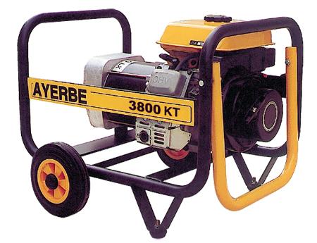 Generador Ayerbe 3800 KT gasolina.