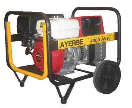 Generador Ayerbe 4000 AVR con regulación electrónica.