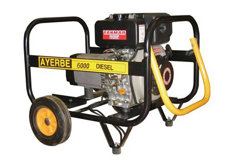 Generador Ayerbe 6000 con motor diesel