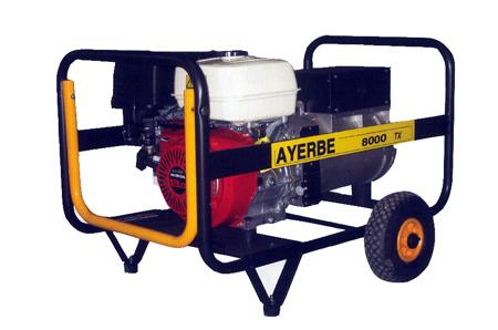 Generador Ayerbe 8000 H TX gasolina.
