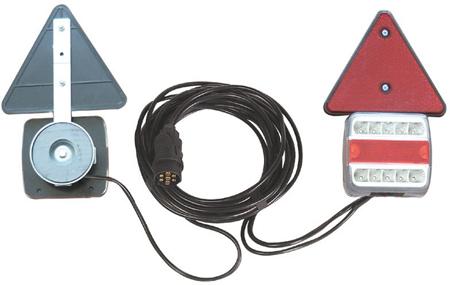 Kit magnético para señalización posterior con catadiopticos