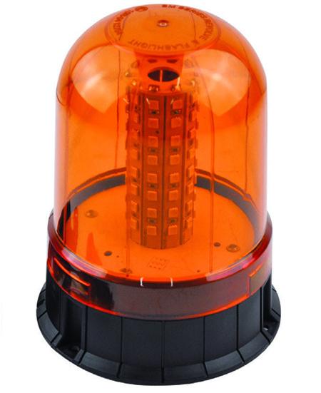 Rotativo luz de led con base plana
