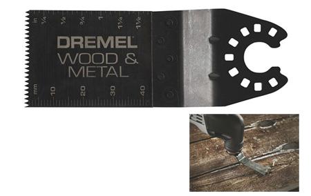 Hoja de sierra para cortes a ras y a nivel en madera y metal Dremel MM482