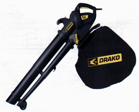 Aspirador con triturador y soplador hojas drako